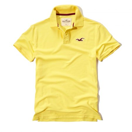 Hình Áo thun nam Hollister HCO-P44 Stretch Pique Polo Yellow