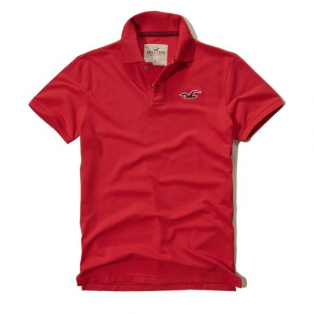 Hình Áo thun nam Hollister HCO-P58 Stretch Pique Polo Red
