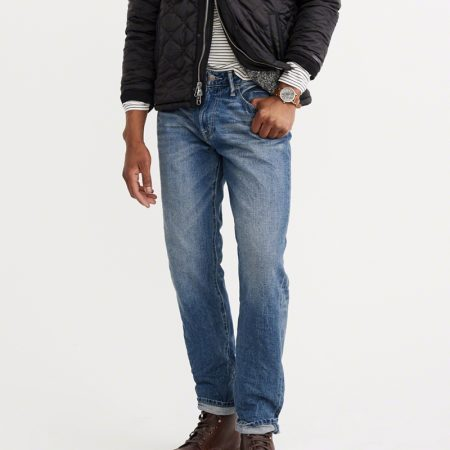 Hình Quần Jean nam Abercrombie & Fitch AF-US-J02 Relaxed Tapered Jeans