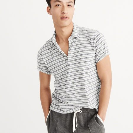 Hình Áo thun polo Abercrombie & Fitch AF-US-P10 Striped Jersey Polo