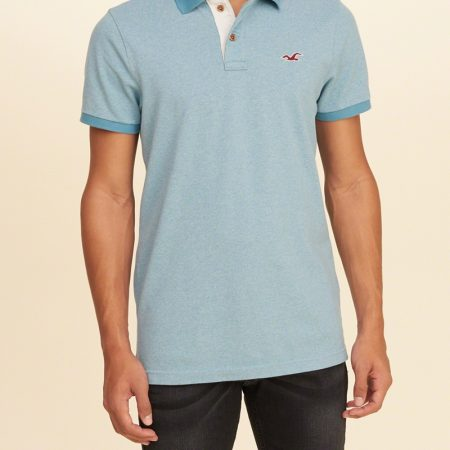 Hình Áo thun nam Hollister HCO-P75 Stretch Pique Icon