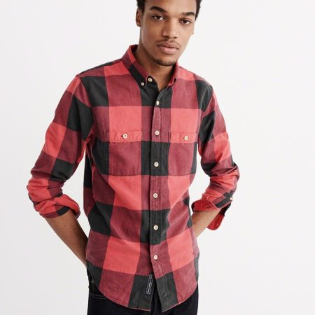 Hình Áo sơmi nam Abercrombie & Fitch AF-US-SM30 Washed Flannel Shirt