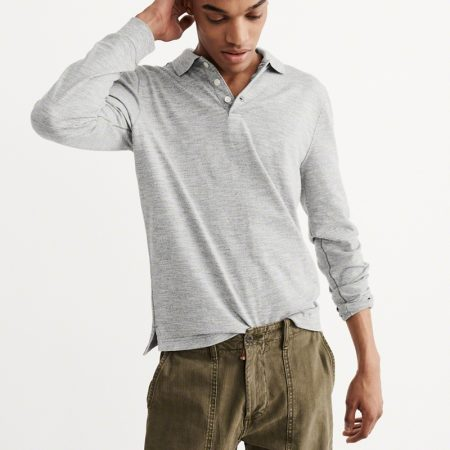 Hình Áo thun polo Abercrombie & Fitch AF-US-P25 Long Sleeve Sweater