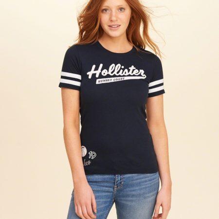 Hình Áo thun nữ Hollister HCO-US-NT01 Applique Logo