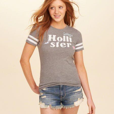 Hình Áo thun nữ Hollister HCO-US-NT02 Applique Logo