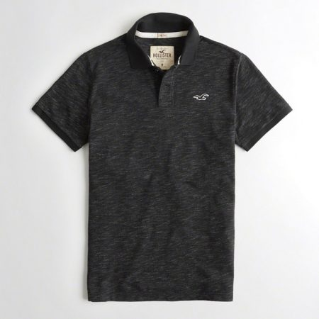 Hình Áo thun nam Hollister HCO-P125 Stretch Pique Icon Polo heather black
