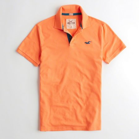 Hình Áo thun nam Hollister HCO-P126 Stretch Pique Icon Polo Bright Orange