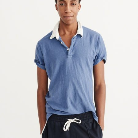 Hình Áo thun polo Abercrombie & Fitch AF-P111 CONTRAST COLLAR POLO