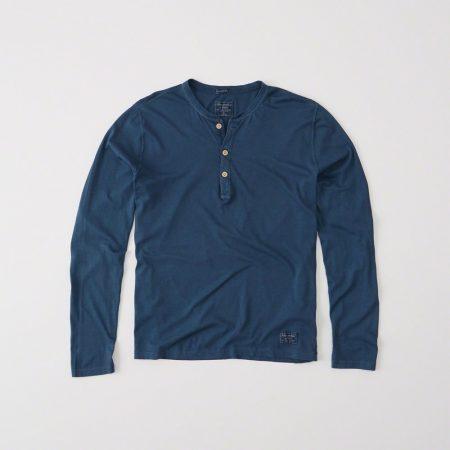 Hình Áo thun nam Abercrombie & Fitch AF-HL14 Garment Dye Long-Sleeve Henley