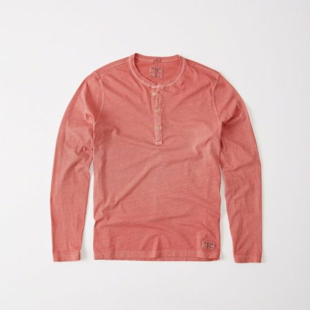 Hình Áo thun nam Abercrombie & Fitch AF-HL16 Garment Dye Long-Sleeve Henley