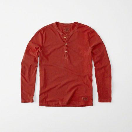 Hình Áo thun nam Abercrombie & Fitch AF-HL17 Garment Dye Long-Sleeve Henley