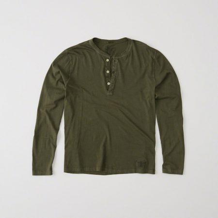 Hình Áo thun nam Abercrombie & Fitch AF-HL22 Garment Dye Long-Sleeve Henley