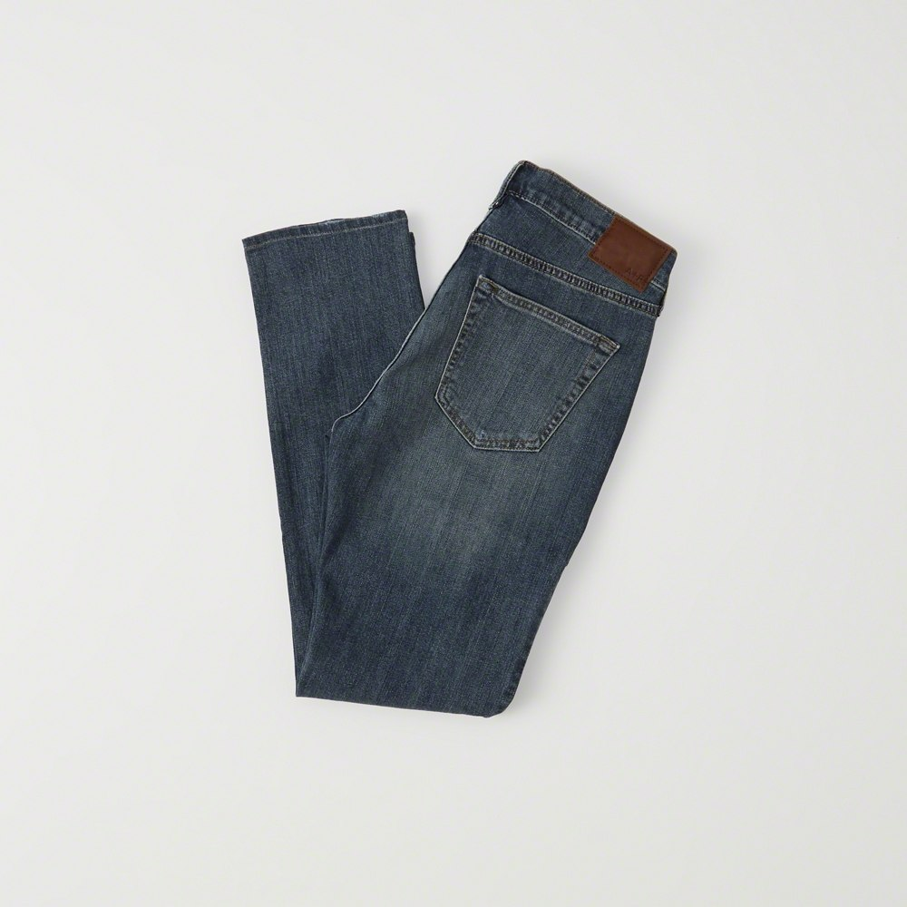 Quần Jean nam Abercrombie & Fitch AF-US-J37 RIPPED ATHLETIC SKINNY JEANS