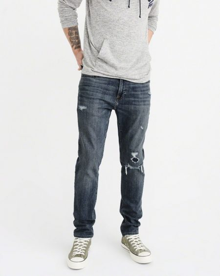 Hình Quần Jean nam Abercrombie & Fitch AF-US-J37 RIPPED ATHLETIC SKINNY JEANS