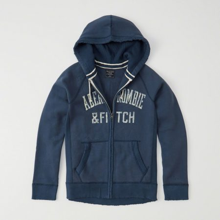 Hình Áo khoác nam Abercrombie & Fitch AF-US-K16 HEAVYWEIGHT APPLIQUE ZIP-UP HOODIE