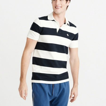 Hình Áo thun polo Abercrombie & Fitch AF-US-P30 Striped Stretch Icon Polo