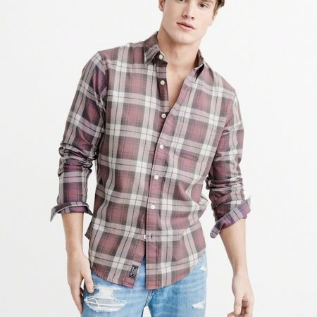 Hình Áo sơmi nam Abercrombie & Fitch AF-US-SM49 Washed Plaid Shirt