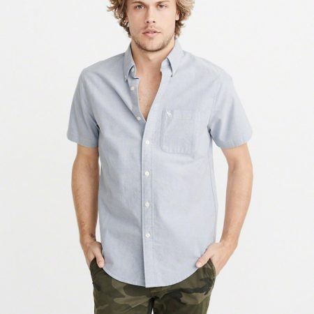 Hình Áo sơmi nam Abercrombie & Fitch AF-US-SM58 Icon Short-Sleeve Oxford Shirt