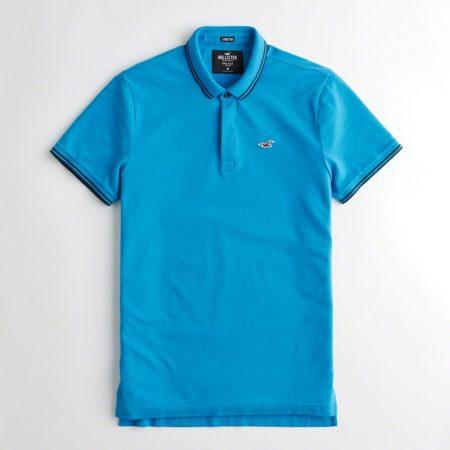 Hình Áo thun nam cổ bẻ Hollister HCO-P162 Stretch Slim Fit Polo Turquoise