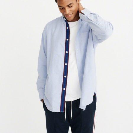 Hình Áo sơmi nam Abercrombie & Fitch AF-US-SM61 Oversized Oxford Shirt