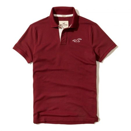Hình Áo thun nam Hollister HCO-P179 Stretch Icon Polo Red