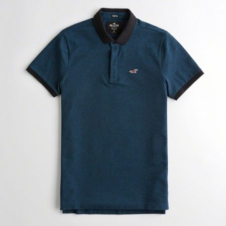 Hình Áo thun nam Hollister HCO-P182 Stretch Slim Fit Polo dark heather teal