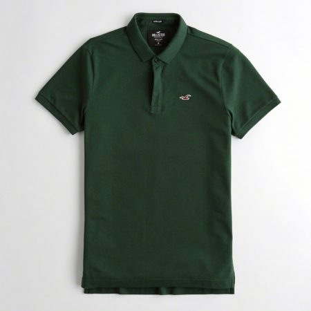 Hình Áo thun nam Hollister HCO-P183 Stretch Slim Fit Polo dark green