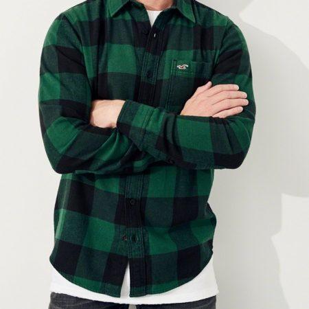 Hình Áo sơmi nam Hollister HCO-US-SM14 Plaid Flannel Shirt
