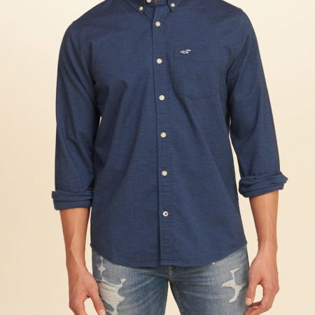 Hình Áo sơmi nam Hollister HCO-US-SM17 Stretch Oxford Shirts