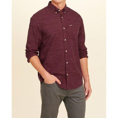 Hình Áo sơmi nam Hollister HCO-US-SM18 Stretch Plaid Poplin Shirt
