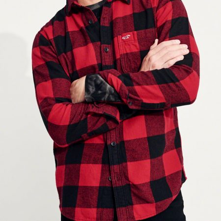 Hình Áo sơmi nam Hollister HCO-US-SM21 Plaid Flannel Shirt