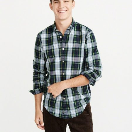 Hình Áo sơmi nam Abercrombie & Fitch AF-US-SM67 Plaid Oxford Shirt