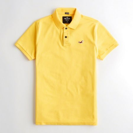 Hình Áo thun nam Hollister HCO-P177 Stretch Slim Fit Polo Yellow