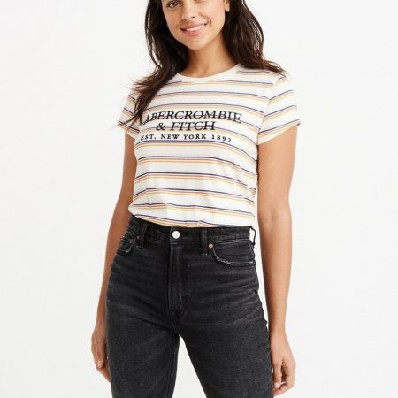 Hình Áo thun nữ Abercrombie & Fitch AF-US-NT03 Embroidered Logo Tee