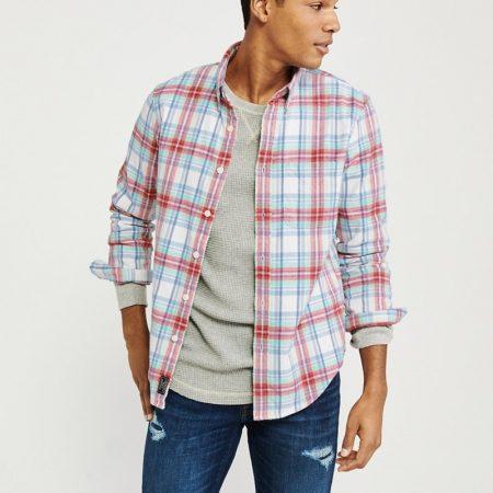 Hình Áo sơmi nam Abercrombie & Fitch AF-US-SM76 Spring Flannel Shirt