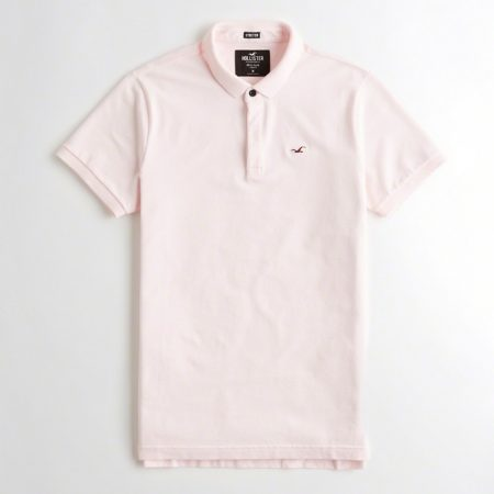 Hình Áo thun nam Hollister HCO-P186 Stretch Shrunken Collar Slim Fit Polo light pink