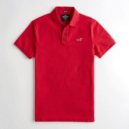 Hình Áo thun nam Hollister HCO-P193 Stretch Slim Fit Polo Red