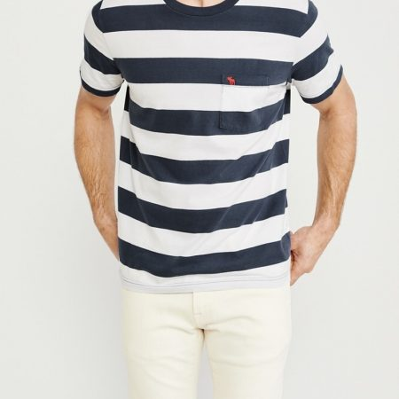 Hình Áo thun nam Abercrombie & Fitch AF-US-T34 STRIPED ICON POCKET TEE