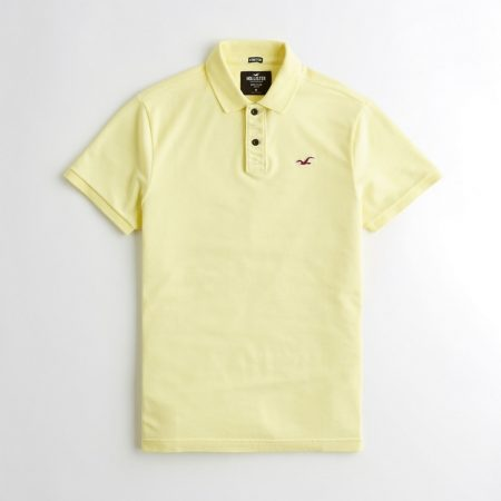 Hình Áo thun nam Hollister HCO-P195 Stretch Classic Fit Polo Yellow