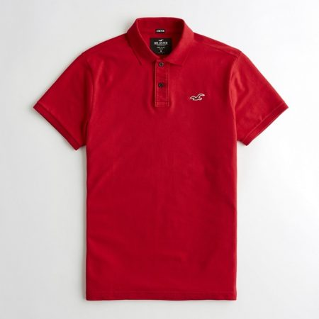 Hình Áo thun nam Hollister HCO-P196 Stretch Classic Fit Polo Red