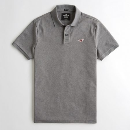 Hình Áo thun nam Hollister HCO-P200 Stretch Slim Fit Polo Dark Heather Grey