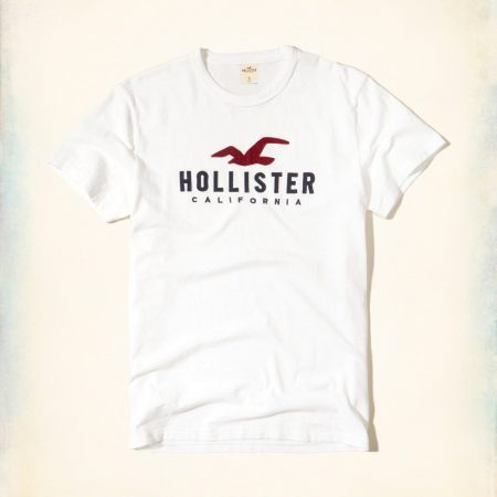 Hình Áo thun nam Hollister California HCO-T141 Applique Logo Graphic Tee