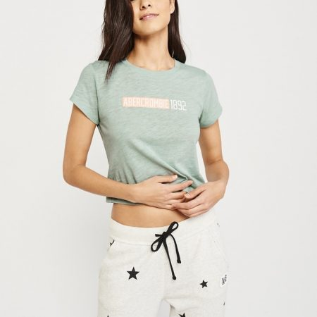 Hình Áo thun nữ Abercrombie & Fitch AF-US-NT08 Short-Sleeve Logo Tee