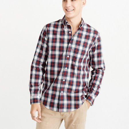 Hình Áo sơmi nam Abercrombie & Fitch AF-US-SM84 Oxford Shirt Signature Fit