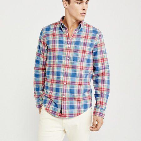 Hình Áo sơmi nam Abercrombie & Fitch AF-US-SM86 Spring Flannel Shirt
