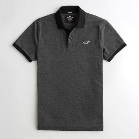 Hình Áo thun nam Hollister HCO-P204 Stretch Polo heather black