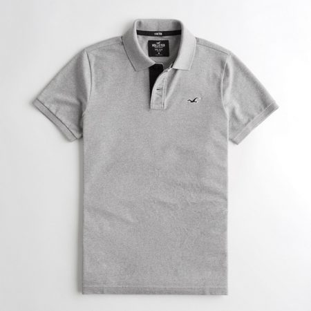 Hình Áo thun nam Hollister HCO-P210 Stretch Polo heather grey