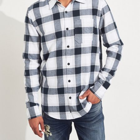 Hình Áo sơmi nam Hollister HCO-US-SM25 Twill Slim Fit Shirt