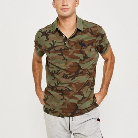 Hình Áo thun polo Abercrombie & Fitch AF-US-P35 Stretch Exploded Icon Camo Polo