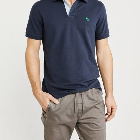 Hình Áo thun polo Abercrombie & Fitch AF-US-P36 Stretch Icon Polo Signature Fit